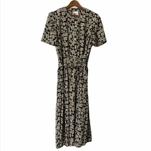 Vintage Leslie Fay Midi Dress With Belt An…